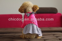 pet clothes ,animal cloth,Dog Clothes Cute Dot Jean Dog Skirt