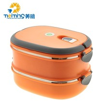 two layers lunch box tiffin carrier/bento lunch box with dividers/stainless steel tiffin box