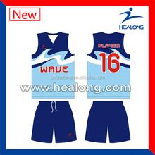 warm color v-neck basketball wear wholesale