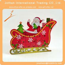 trineo de madera navidad calendario de adviento
