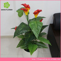 2015 Alibaba hot sale artificial anthurium flower artificial plant for home decoration