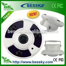 2mp 1080P 360 degree fisheye lens Panoramic Dome built in mic speaker ip camera with h.264 pan tilt