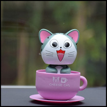 resin cute shaking head toys using in car,cute OEM cat nodding head toys,OEM resin cat nodding head toys
