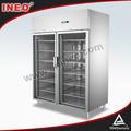 1285l vertical porta de vidro freezer/freezer porta de vidro visor armários/upright freezer porta de vidro