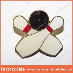 Custom 10 PIN BOWLING BALL AND PINS ~ Tie Hat ~ Alley Metal Lapel Pin Badge Making