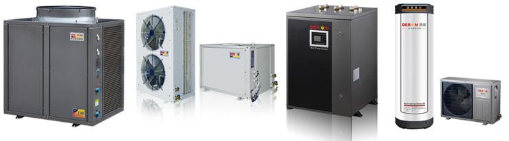 Luftquelle wärmepumpe warmwasser-heizung mit solarenergie ...