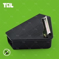 Hot Black Mouse Trap PP Mouse Bait Box Pest Repellent In 2015(TLMBS0204)