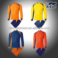 NIKOO 2014 Custom Quality Long Sleeve Soccer Goal-keeper Uniform for League