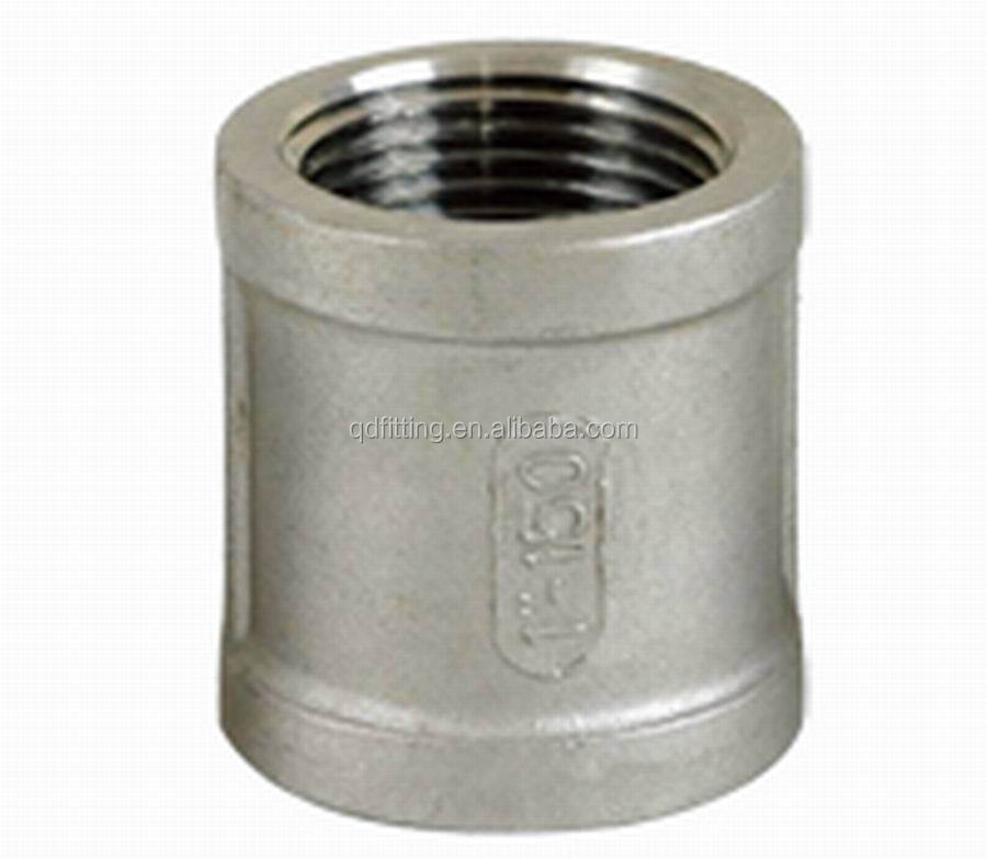 Threaded rod pipe sleeve coupling view