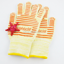 Professional silicone heat resistant grilling bbq gloves