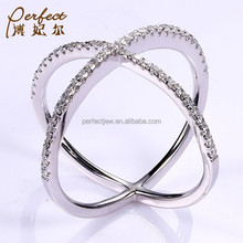 hotsale silver ring of nice design morden jewelry