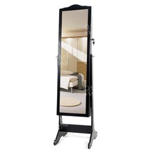 Full Length Over the Door Mirror Armoire Jewelry Drawer Organizer