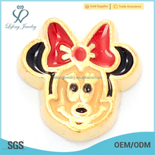 Hot selling mickey mouse locket floating charms,metal charms jewelry