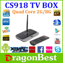 Rk3188 Android Tv Box Quad Core Cs918 2Gb Ram External Wifi Oem Packing Oem Brand