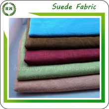 Hongway 2015 100% polyester Dye suede leather/suede leather/suede