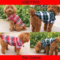 019 Fashion Favorites Compare 100% cotton Plaid Shirt for Dogs, Doggie Blouse, Scotland, Wholesale dog clothes