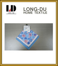 100% cotton lady's popular printing handkerchief