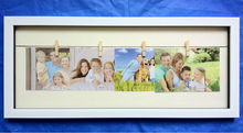 wood Rope Photo frame, Rope Picture Frames, Rope Clip Multi Frame