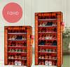 Living room furniture portable smart display shoe rack shelving system