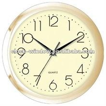 Golden colour plastic wall clock