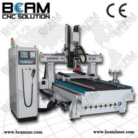 4Axis BCM1325D-4A with PTP table, BCAMCNC used glass edge polishing machines with Servo Motor and reducer