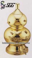 Gourd Shaped Bronze Chinese Herbal Tea Dispenser,Drink Dispenser,Water Dispenser