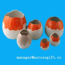 Unique easter decoration ceramic Broken Egg holder for sale