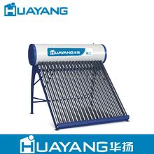 Pressure heat pipe solar water heater with solar keymark