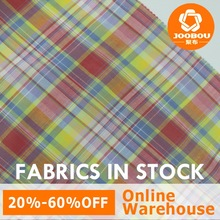 Summer Cotton Plaid Girls Dress Fabric Fast Delivery Textiles In Stock