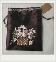 vintage design fancy ribbon flower jewelry bag