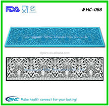 New arrival food grad 3d lace silicone mat ,sugar lace mat , magic decor silicone sugar lace mat