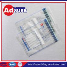 secure courier bag wholesaler/plastic bag security lock/packing list envelopes