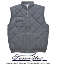 SUNNYTEX 2013 Hot Selling Winter Navy Quilted Work Vest