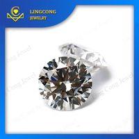 machine cut white artificial diamond stone