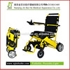 handicapped electric wheelchair with reclining backrest