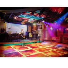 Surfloor multi function anti slip color vinyl liquid tile design led dance mat