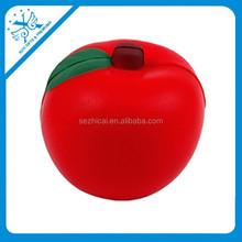 2015 best selling popular apple shape pu stress ball