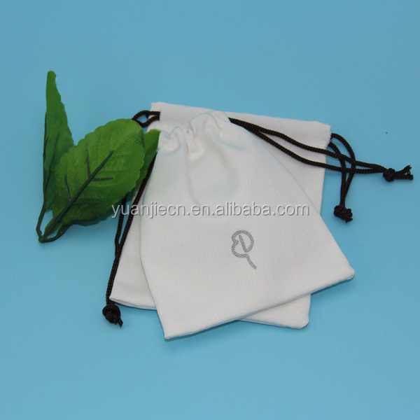 Small 100% White Cotton Camera Printing Sling Drawstring Plain Canvas Bags