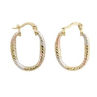 Color Plating Tri Tones cheap gold women earrings