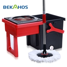Bekahos PP Mop Head Material and Magic Handle Type 360 degree easy cleaning magic mop