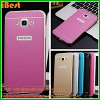 iBest 2 in 1 acrylic mirror back metal cover case for samsung galaxy j7 metal bumper case for samsung j7