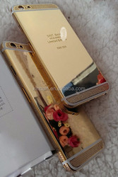 for iphone 6 bling bling case ,mirror gold housing for iphone 6,for iphone 6 diamond case