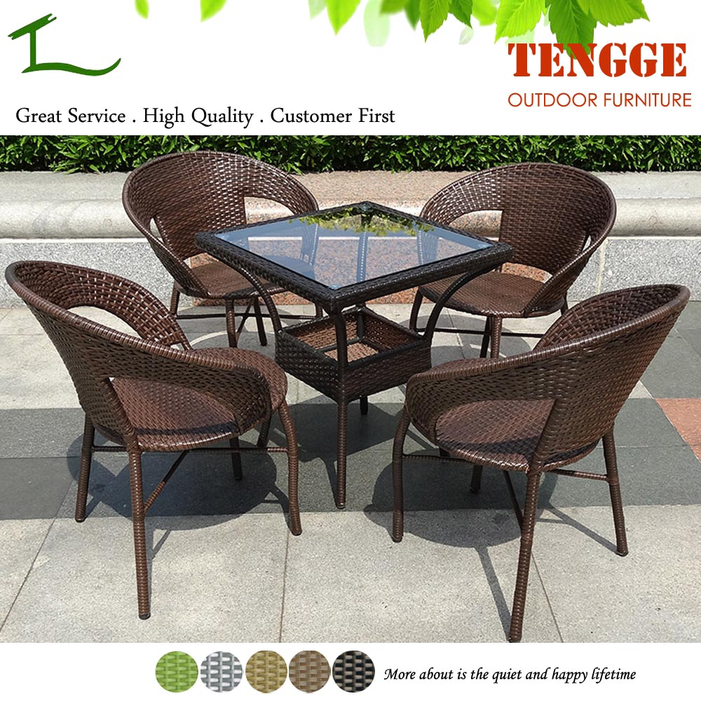 Tg15 0183 5 Pieces Outdoor Rattan Coffee Shop Tables And Chairs View Coffee Shop Tables And