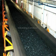 rubber conveyor belt for steel clinker, hot sintered ores, Steel pallets at temperature above 180 degree