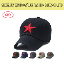 High Quality Embroidered Promotion Custom Baseball Cap with five-pointed s