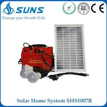 ODM supplier red handy solar power system with solar panel and DC radio