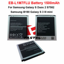 New OEM EB-L1M7FLU Li-ion Mobile Phone Battery For Samsung I8190 Galaxy S 3 III mini,Galaxy S Duos 2 S7582 1500mAh