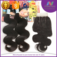 Free/Middle/Three part lace front closure cheap human hair lace closure