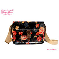 Candy Flowers Adjustble ladies cross body messenger Bag