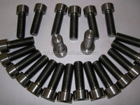 Gr1 din933 titanium fastener bolts machining parts